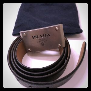 💯 authentic PRADA leather men's belt